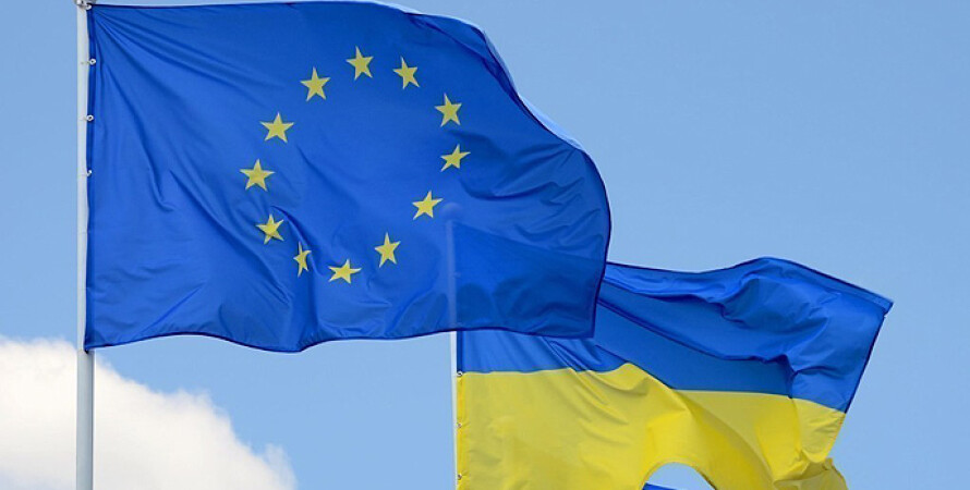 Україна, ЄС, прапор, вступ, Євросоюз, Європа