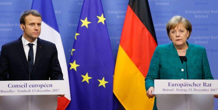 Эммануэль Макрон и Ангела Меркель / Фото: Радио Свобода
