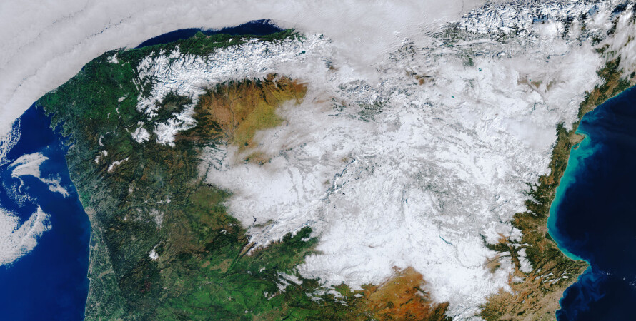 Снег в испании, снегопад в Испании, засыпало снегом испанию, погода в испании, ESA, sputnik