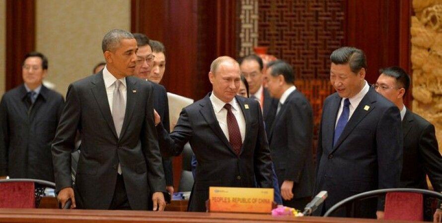Барак Обама, Владимир Путин, Си Цзиньпин / Фото пресс-службы Кремля