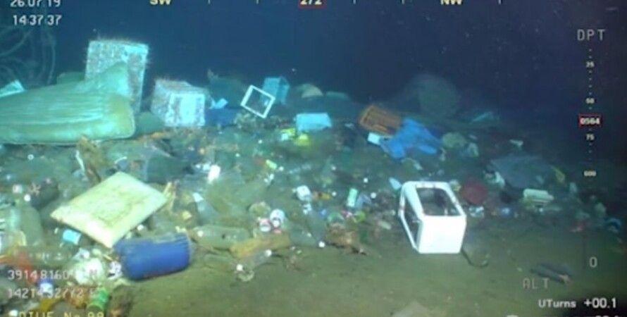 свалка, мусор, Средиземное море, Италия, морское дно