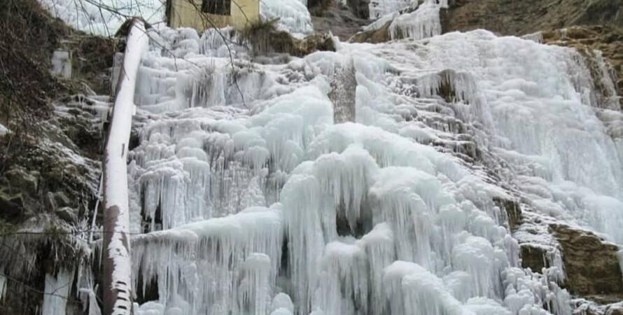 крим, водоспад, погода, мороз, ялта