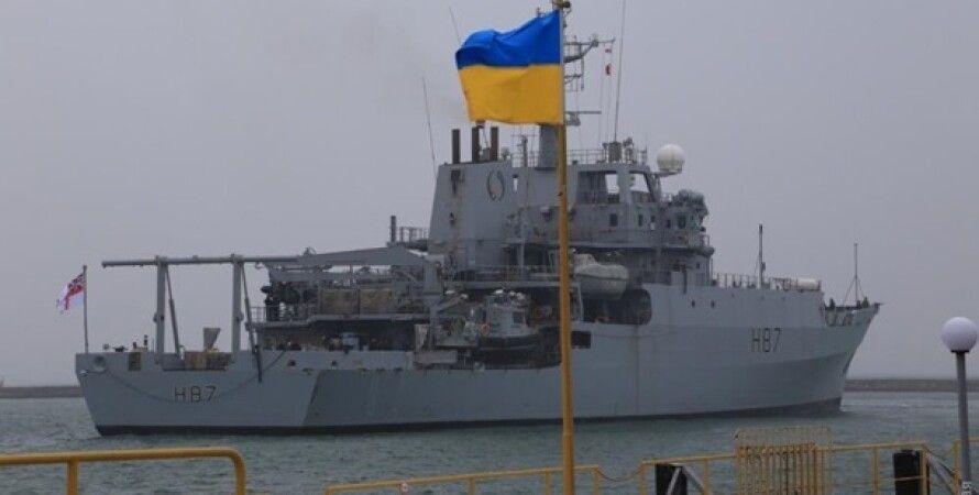 HMS Echo в порту Одессы/Фото: Думская