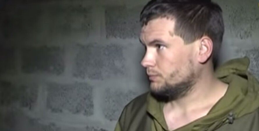 Задержанный боевик / Фото: кадр из видео Youtube