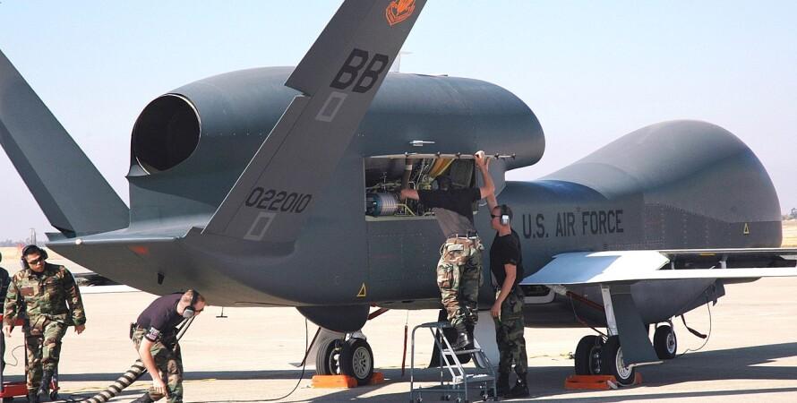 беспилотник, RQ-4A, Global Hawk, фото, сша, разведка, полет