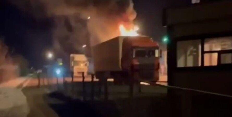 Харків, Гоптівка, кордон, фура, вибух, пожежа,