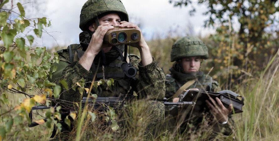 солдат, бінокль, Росія, РФ, межа, розвідка, засідка