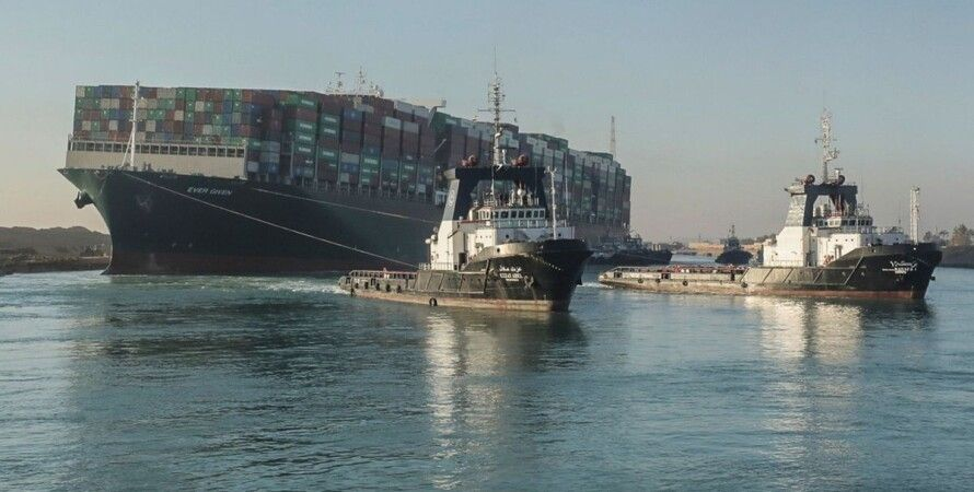 Ever Given, контейнеровоз, Суэцкий канал, блокирование, мель,