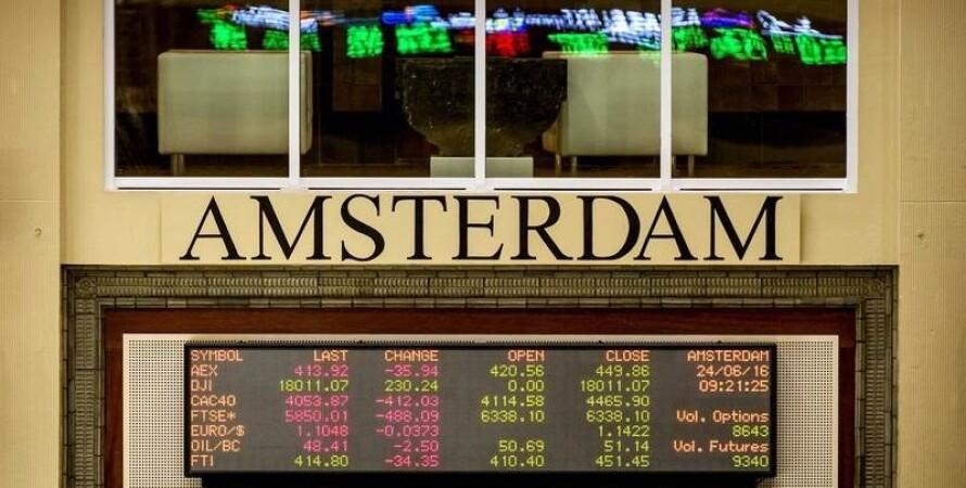 амстердам, лондон, биржа, фото, brexit, акции, торговля