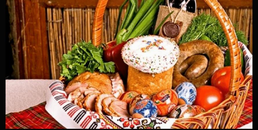 пасха, корзина, продукты, фото
