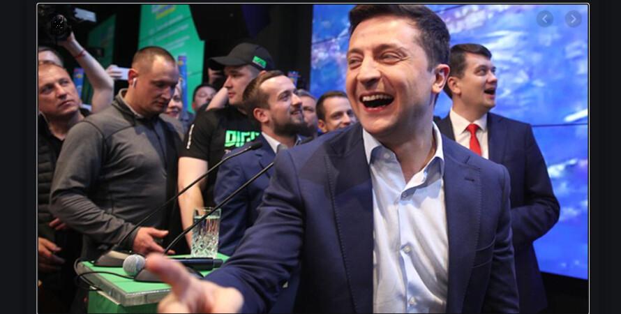 Володимир Зеленський на виборах в 2019 році
