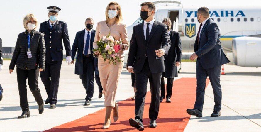 Елена Зеленская, Владимир Зеленский, Франция