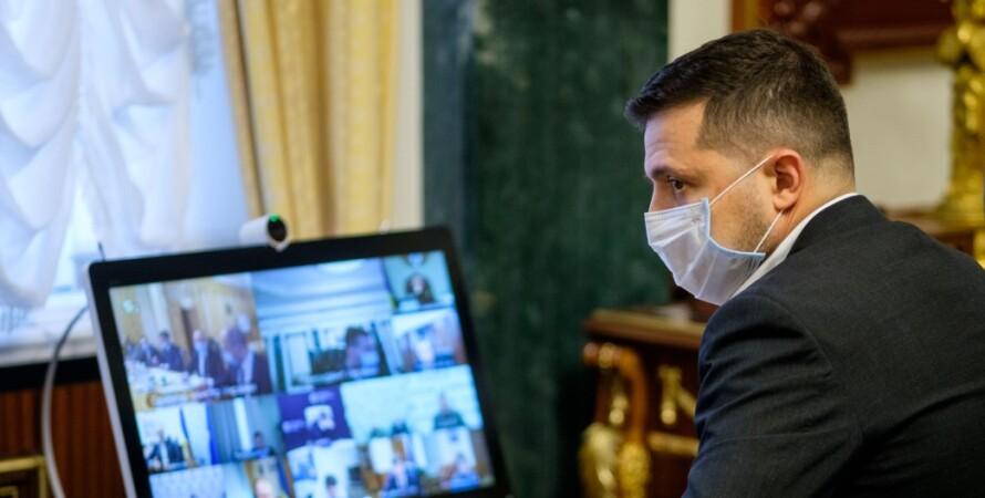 Владимир Зеленский, Офис президента, маска, коронавирус