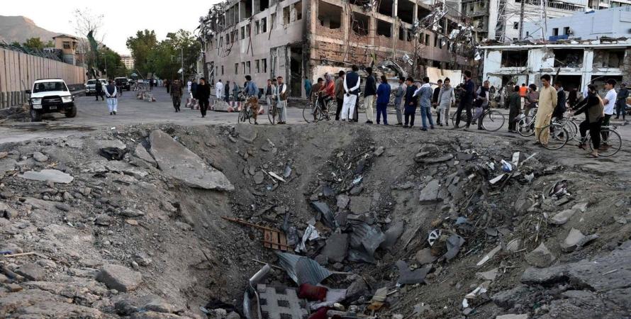 бомбардировка афгана