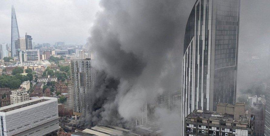 пожар в Лондоне,  Elephant and Castle