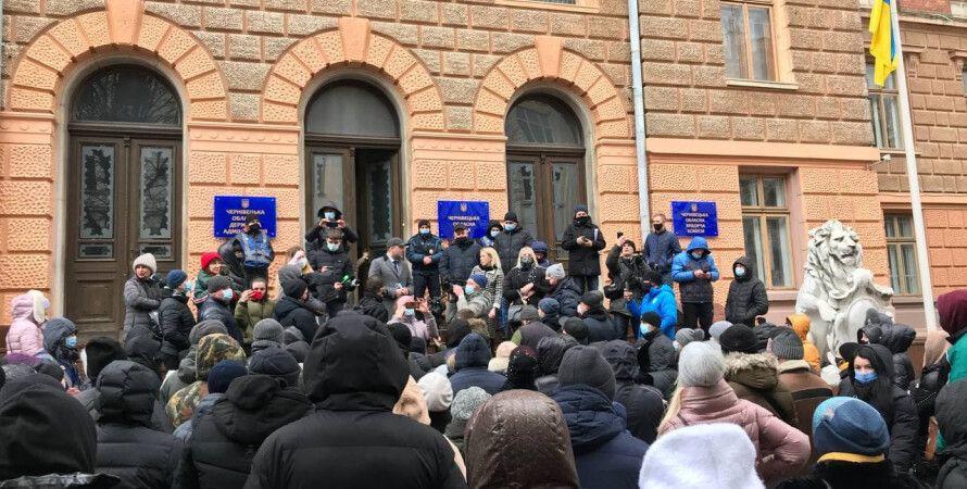 черновцы, протесты, коронавирус, коронавирус в украине, карантин