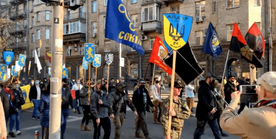 дивизия сс галичина, марш, украина, киев