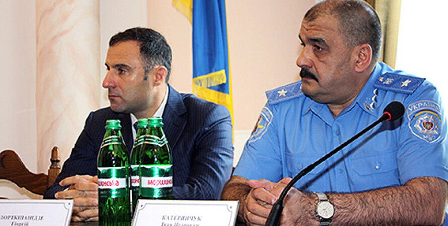 Иван Катеринчук и Гиорги Лорткипанидзе / Фото пресс-службы МВД