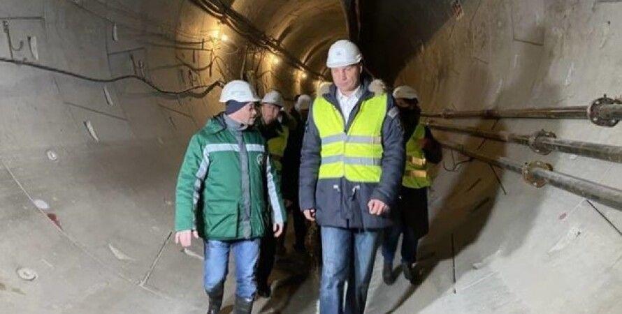 киев, метро, кличко, туннель, мэр киева, метрострой