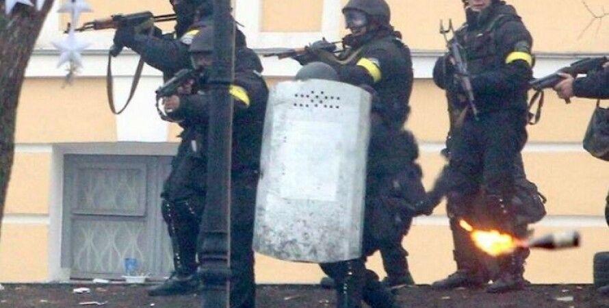 Снайперы на Майдане Независимости в Киеве / Фото кадр из видео