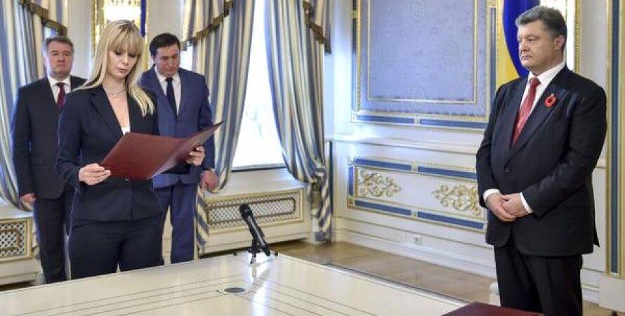 Петр Порошенко и Татьяна Малашенкова / Фото пресс-службы президента