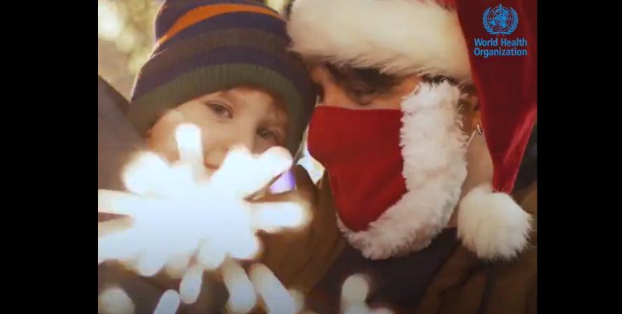 новый год, ребенок, отец, маска