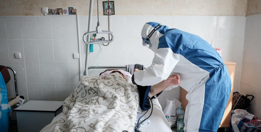 Госпитализация с коронавирусом, больница, ковид пациент, третья волна коронавируса