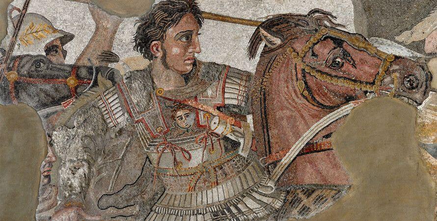 Мозаика с изображением Алесандра Македонского. Национальный археологический музей Неаполя