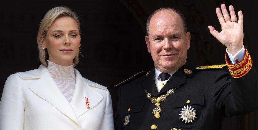 Княгиня Шарлен з чоловіком