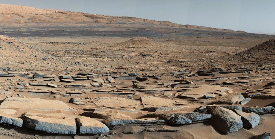 поверхность Марса, горные порода, иллюстрация