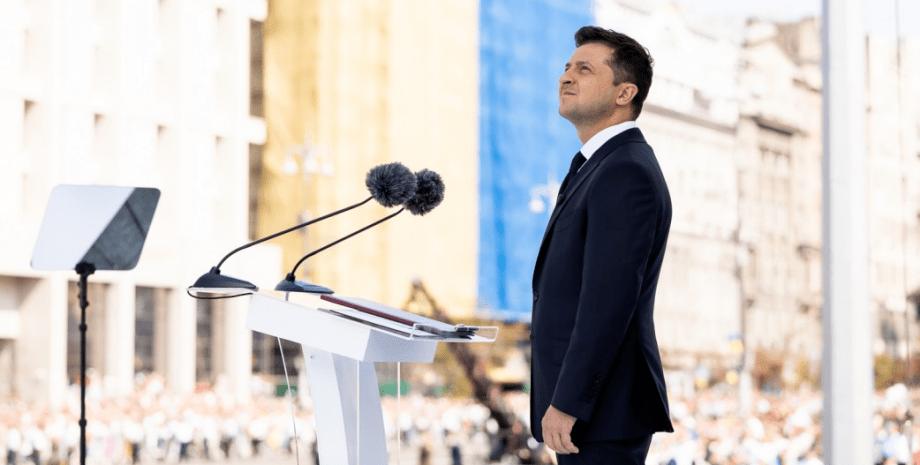 Владимир Зеленский на Дне независимости в 2021 году