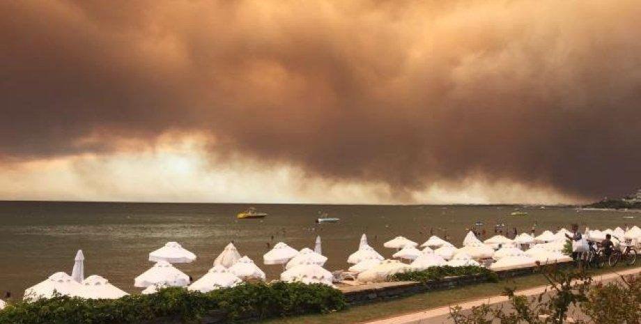 пожар в анталии, турция, манавгат