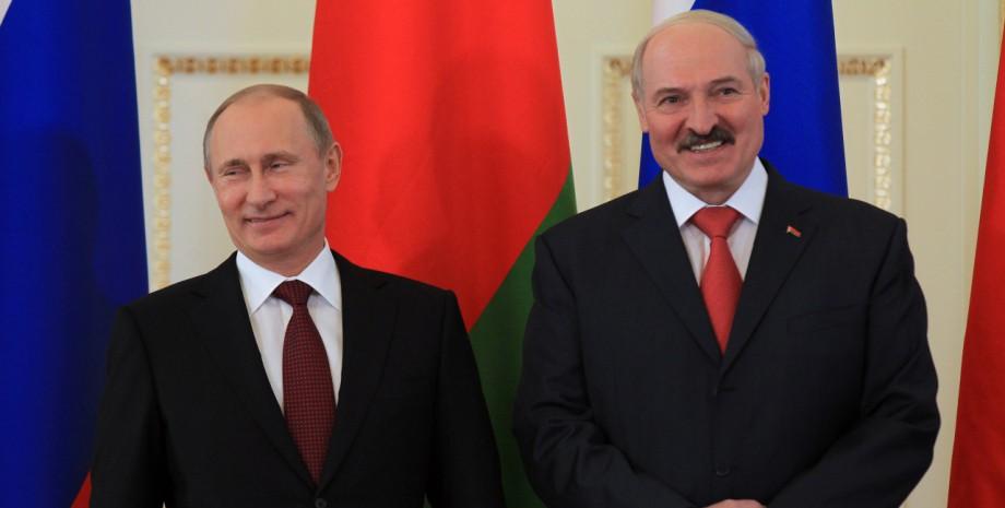 Лукашенко і Путін, президент Білорусі, президент РФ