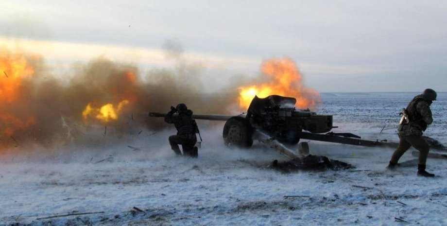 Украинские артиллеристы / Фото пресс-службы Минобороны