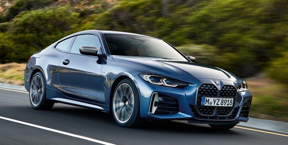 новое купе, новый BMW, новое купе BMW 420d экстерьере, новый BMW 420d в движении