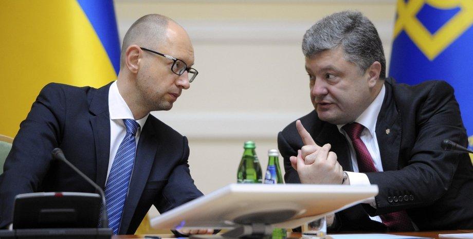 Арсений Яценюк и Петр Порошенко / Фото: УНИАН