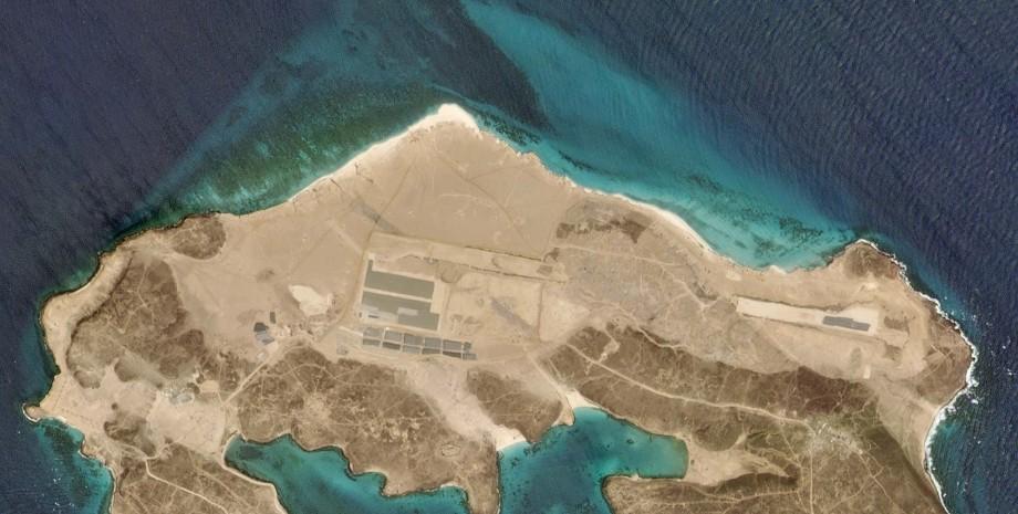 остров, маюн, йемен, оаэ, военная база
