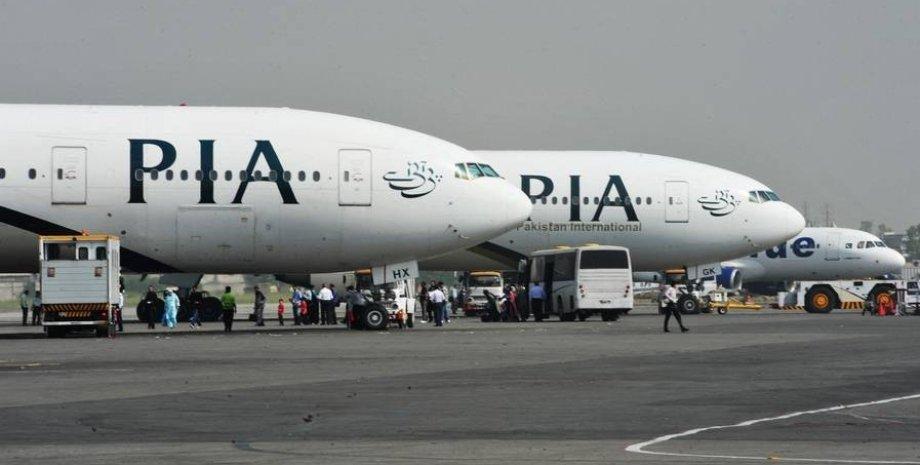 Самолет PIA, аэропорт кабул