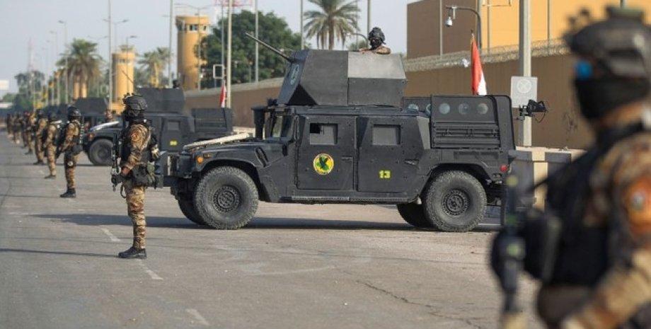 Иракские специальные силы возле посольства США в Багдаде/Фото: Daily Sabah