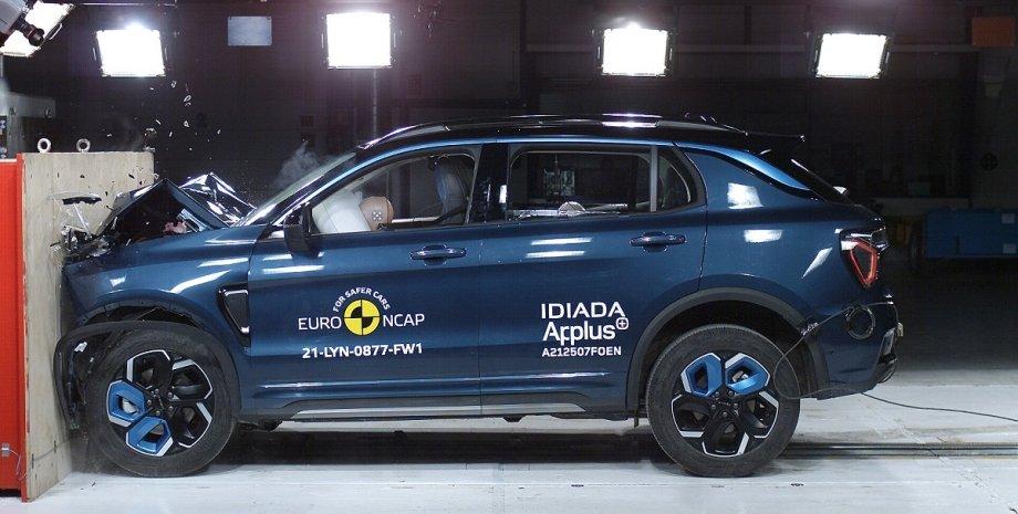 Краш-тесты EuroNCAP, краш-тест китайского кроссовера, фронтальный удар