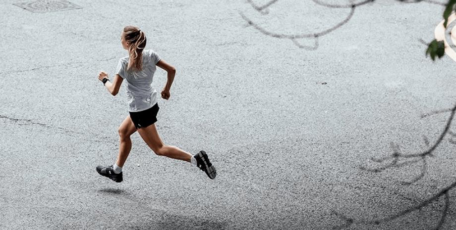 спорт, біг, дорога, жінка, фото