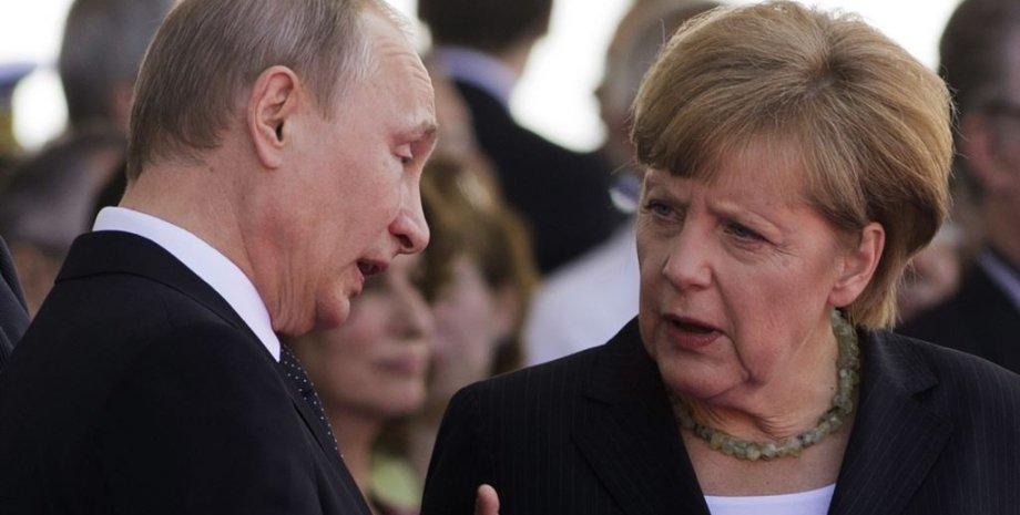 Ангела Меркель и Владимир Путин / Фото: AFP