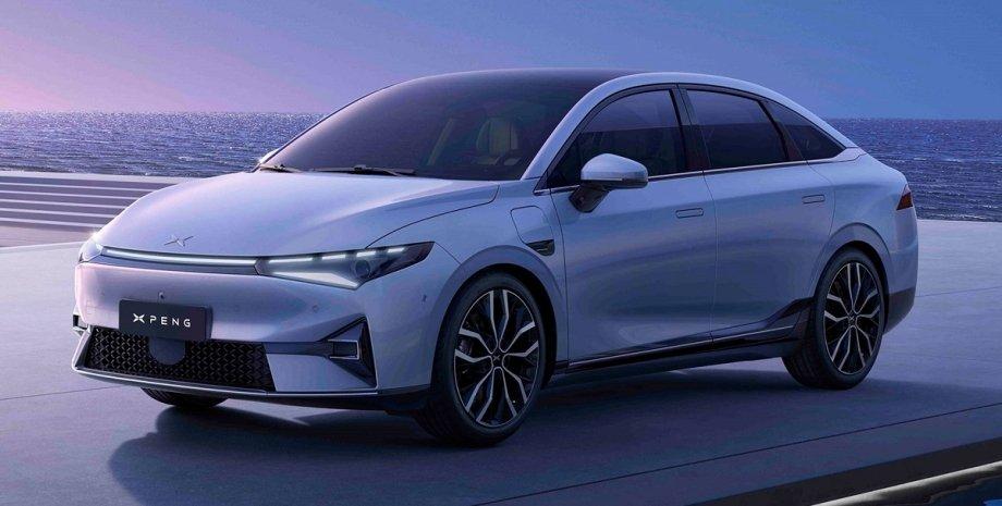 новый китайский электромобиль, экстерьер XPeng P5 2021 года