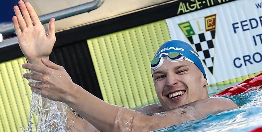 Андрей Говоров, серебро, второе место, чемпионат европы, плавание, пловец, второе место в чемпионате, говоров