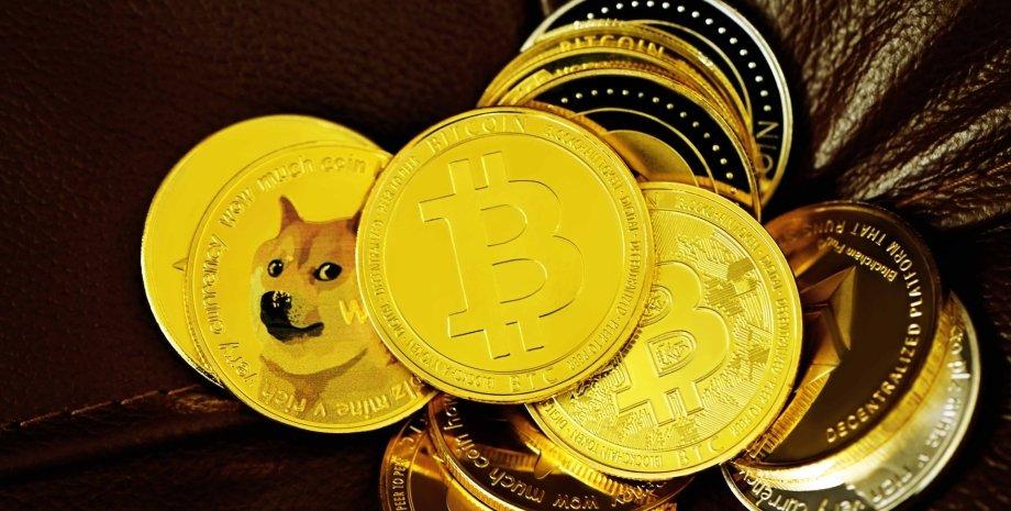 Dogecoin, Ethereum, біткоїни