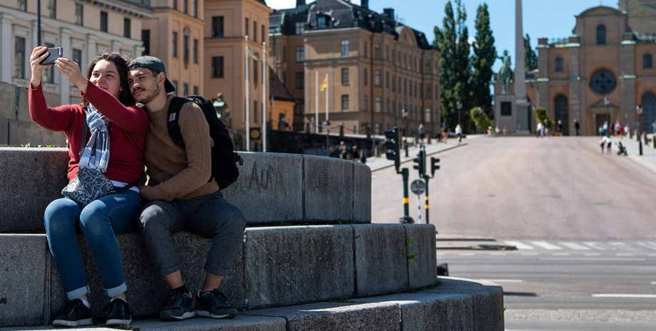 Швеція, туристи, Селфі,