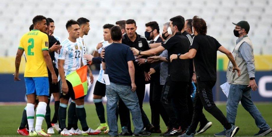 Сборная Аргентины, сборная Бразилии