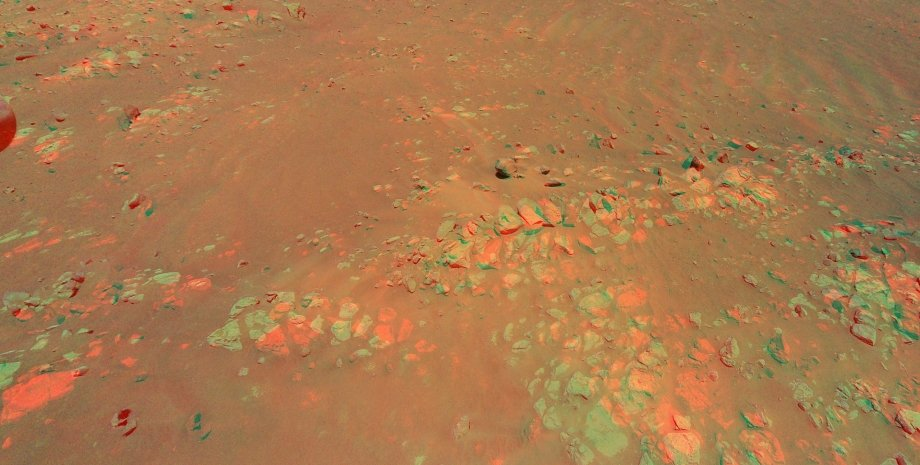 Марс, район Raised Ridges, 3D снимок
