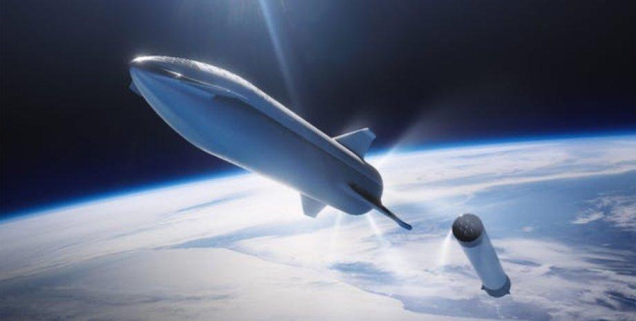 Так будет выглядеть корабль BFR. Иллюстрация SpaceX