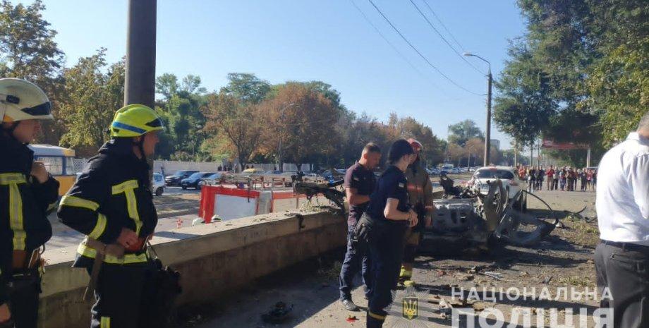 Названа причина взрыва автомобиля в Днепре, взрыв в Днепре